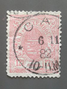 Luxembourg 44 F-VF used with faults. Scott $ 190.00