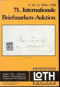 71. Loth-Briefmarken-Auktion: Internationale Briefmarkena...