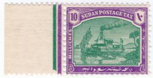 (I.B) Sudan Postal : Postage Tax 10m