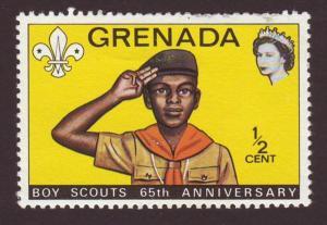 Grenada 1972 #468 1/2c Boy Scout 65th Anniversary MH SG532