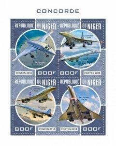 HERRICKSTAMP NEW ISSUES NIGER Concorde Sheetlet