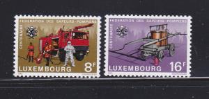 Luxembourg 687-688 Set MNH Fire Brigades