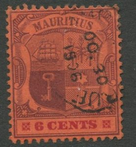 STAMP STATION PERTH Mauritius #104 Coat of Arms Used Wmk 2 - 1895 -1904