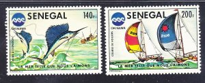 Senegal 419-20 MNH 1976 Racing Yachts & Sailfish Fishing Set VF