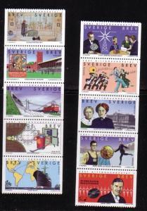 Sweden Sc 2300-8 1998 Millennium stamp set mint NH