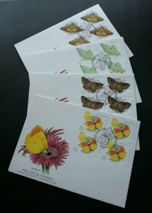 Portugal Insect - Butterflies 1998 Flower Flora Fauna (stamp FDC) *rare *clean