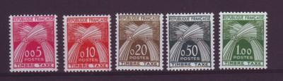 France ScJ93-7 1960 Postage due stamps NH