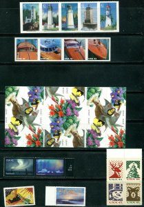 US 2007 Commemorative Year Set 117 stamps including 4 Sheets, Mint NH, see scans