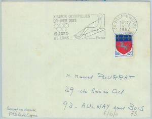68014 - FRANCE - POSTAL HISTORY - GRENOBLE 1968 WINTER Olympic Games  POSTMARK