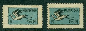 Uruguay #C7-C8  Mint  Scott $70.00