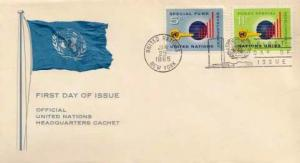 United Nations, First Day Cover, Flags