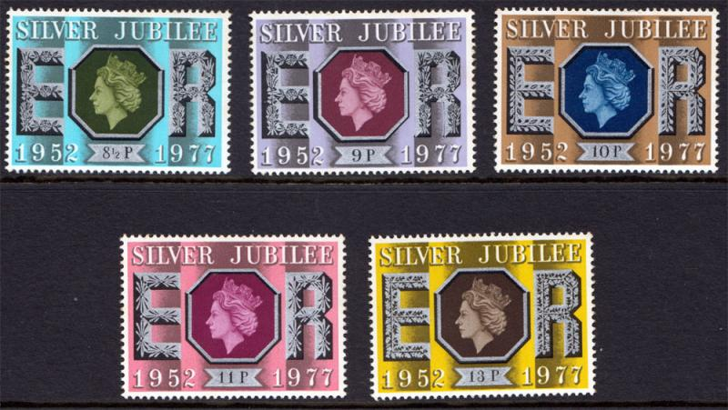 GB QEII 1977 Silver Jubilee Set Mint SG1033-SG1037 Never Hinged MNH UMM