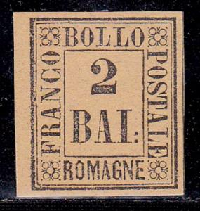 Romagna Italy SC #3 Stamp 1859  Franco Bollo 2b. Unused  Expert Signature