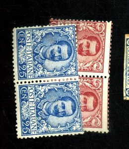 ITALY #79 81 MINT PAIRS FINE OG NH Cat $720