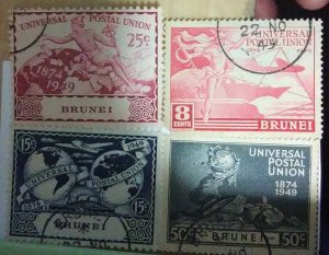 Brunei Scott #79-83 * lh (1947)