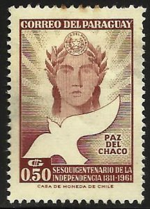 Paraguay 1961 Scott# 591 MH (thin)