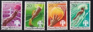 Papua New Guinea # 419-422, 5th South Pacific Games, Used Set, 1/2 Cat.