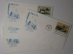 VENPEX Expo Sc#1464-67 FDC Channel Island Natl Monument Warms Springs OR 1972