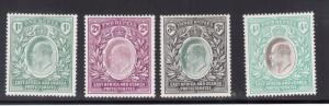 East Africa & Uganda #25 - #28 (SG #26 - #29) Very Fine Mint Lightly Hinged