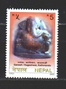Nepal. 2003. 772 from the series. Buddhism, the god of Ganesha in the guise o...