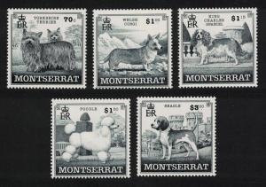 Montserrat Dogs Terrier Corgi Spaniel Poodle Beagle 5v 1999 MNH SG#1138-1142