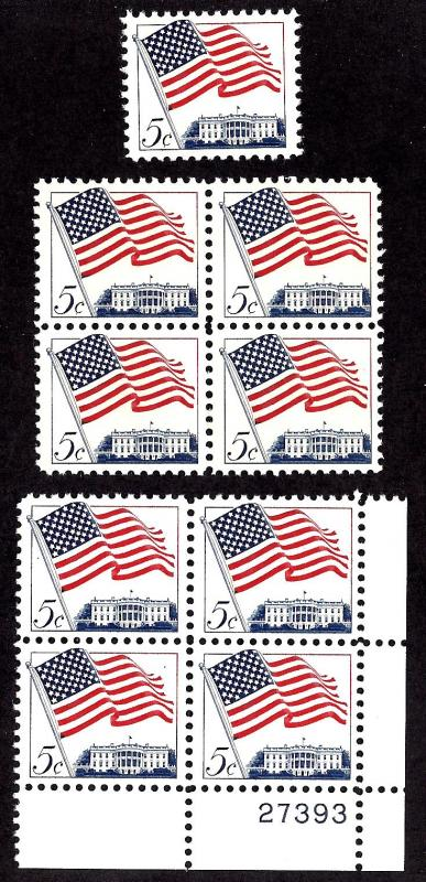 1208 Mint,OG,NH... Single, Block, and Plate Block of 4... SCV $2.25