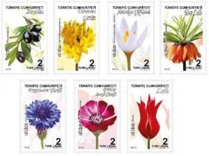 TURKEY / 2018 - PLANTS (TULIP, FOREST ROSE, OLIVE, FLOWER), MNH