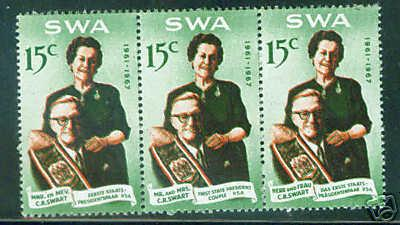 South West Africa Scott 313 MNH** strip of 3  CV $11.50