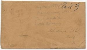 US Stampless Cover East Bennington, VT CDS September 23, 1851 Paid 3