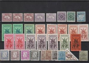 madagacar martinique maroc   mounted mint stamps ref 10997