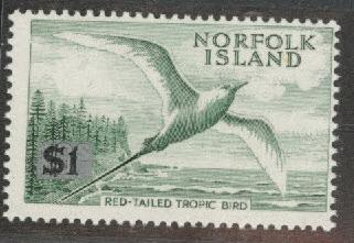 Norfolk Island Scott 82a MNH** with 6x4 mm silver rectangle