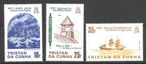 Tristan Da Cunha Sc# 368-370 MNH 1985 Shipwrecks