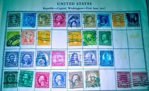 United States Used collection. _  unchecked. _  collection of 30