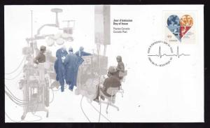 Canada-Sc#2056-stamp on FDC-Montreal Heart Institute-2004-