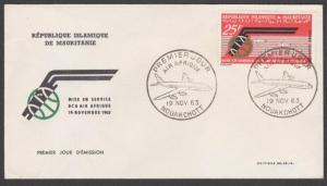 MAURITANIA 1963 Air Afrique commem FDC.....................................27882