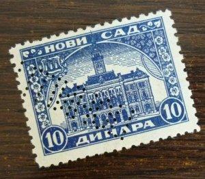 Yugoslavia Serbia NOVI SAD Local Revenue Stamp 10 Dinara  CX48