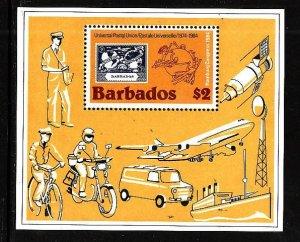 Barbados MNH S/S 631 Universal Postal Union UPU 1984