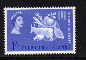 Falkland Islands Sc 146 1963 Freedom from Hunger stamp NH