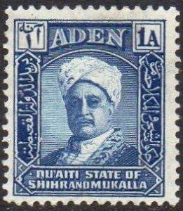Aden (Qu'aiti State of Shihr and Mukalla) 1942 1a Sultan MH