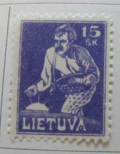 A11P4F13 Litauen Lituanie Lithuania 1921-22 15sk MH*
