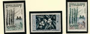 New Caledonia1955 #300-302 F-VF MNH...Fill in a High Value Spot!