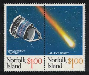 Norfolk Appearance of Halley's Comet 2v Pair SG#383-384 SC#381
