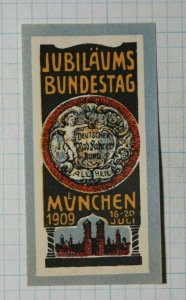 Bundestag Gov Jubilee Fair Munich Germany Exposition Poster Stamp Ads