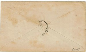 1897 Petaluma, CA duplex cancel on cover for Baldwin Bakery & Restaurant