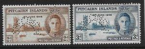 PITCAIRN ISLANDS SG9s/10s 1946 VICTORY SET MNH