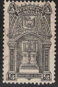 Dominican Republic Scott 109 Used stamp lightly canceled