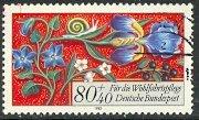 GERMANY 1985 80pf+40pf FLORAL BORDERS Semi Postal Sc B638 VFU