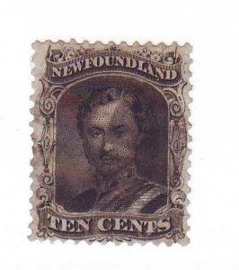 Newfoundland Sc 27 1865 10c Prince Albert stamp used