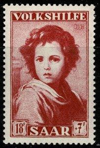 GERMANY SAAR 1952 18f+7f NATIONAL RELIEF FUND UNUSED (MH)  P.13  SG 336 SUPERB