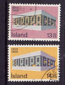 Iceland-Sc#406-7-used Europa set-1969-